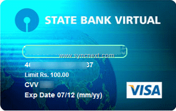 SBI Virtual Debit Card