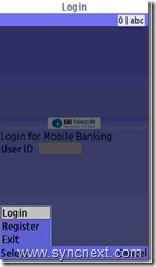 register for SBI mobile banking service